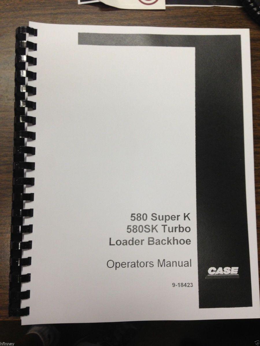 Sd Case Sk Super K Sk Backhoe Operator Manual on Komatsu Backhoe Loader
