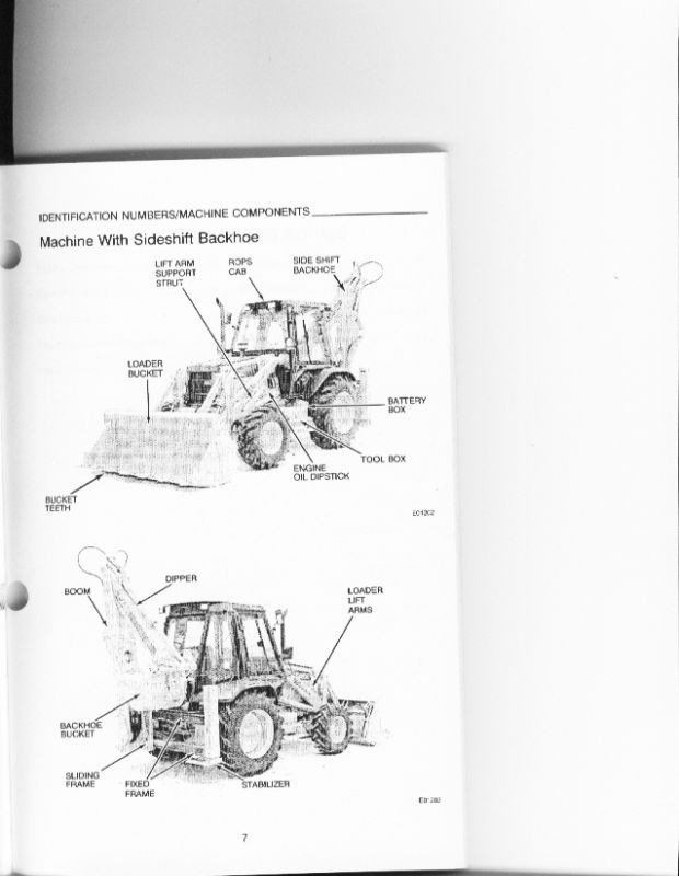 Case 580 Super K 580sk Backhoe Operators Manual Europe