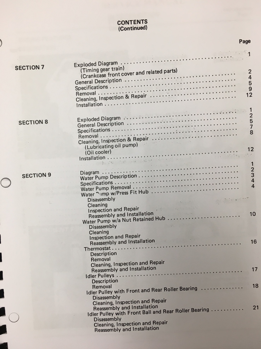 International Td15c Dozer Engine Service Manual Dt466b Ih