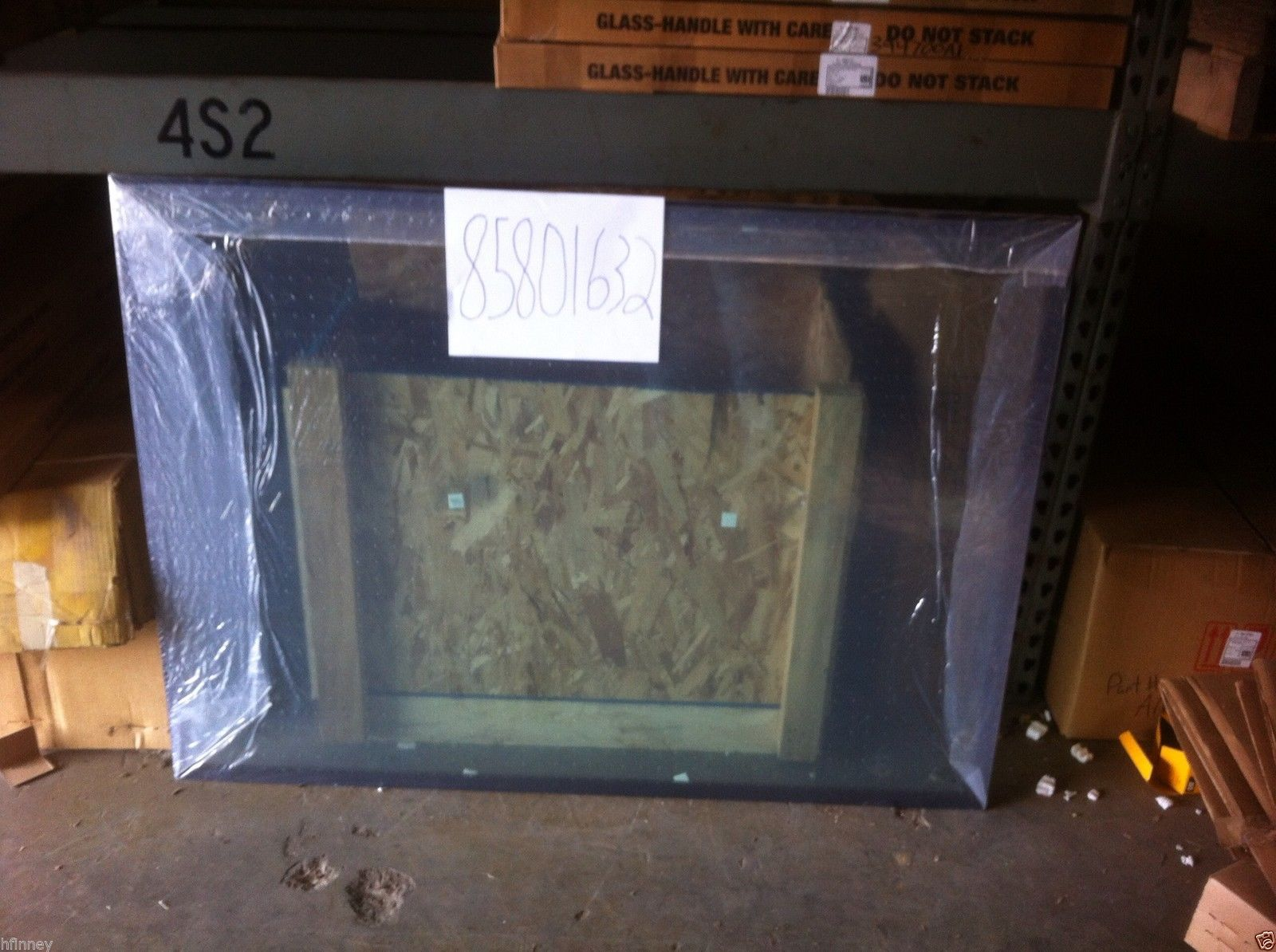 Ford 555e 575e 655e 675e Backhoe Glass Window Rear Back