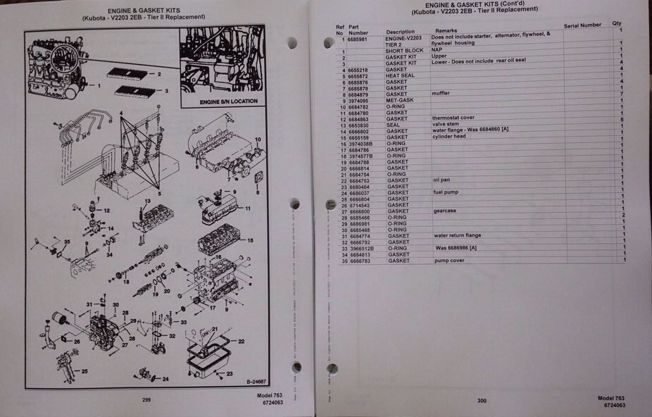 Sd Bobcat F H Skid Steer Parts Manual Book Early Machines