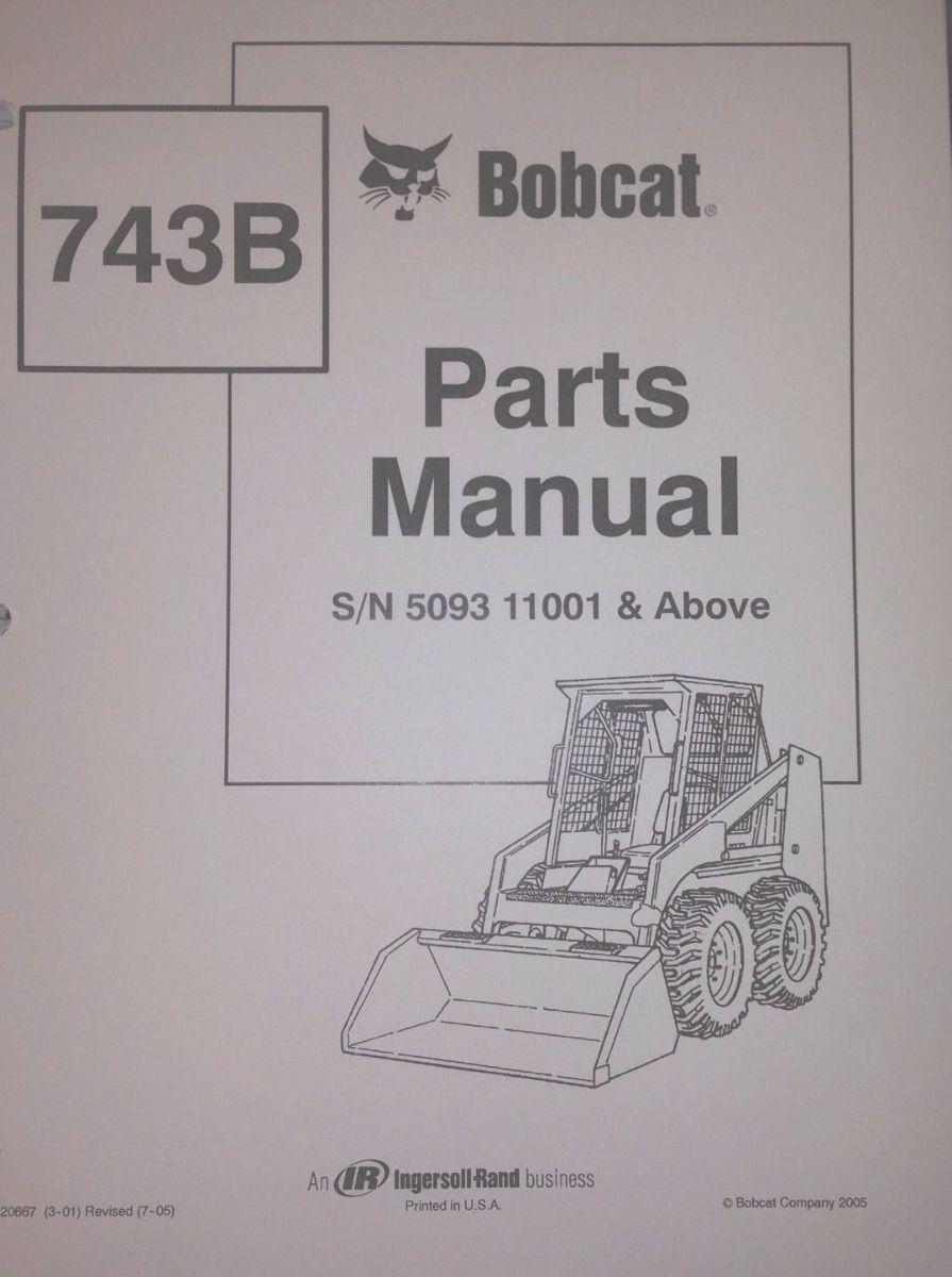 Sd Bobcat B Parts Manual Book Skid Steer Early