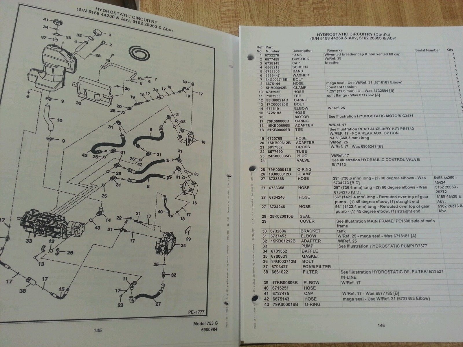 Sd Bobcat G Skid Steer Parts Manual Book