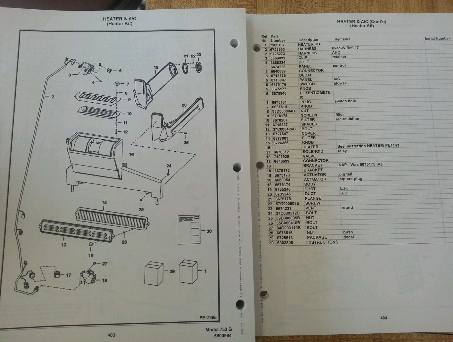 sd423451993 bobcat 753 753g skid steer parts manual book 6900984 8 bobcat 753 753g skid steer parts manual book 6900984 finney