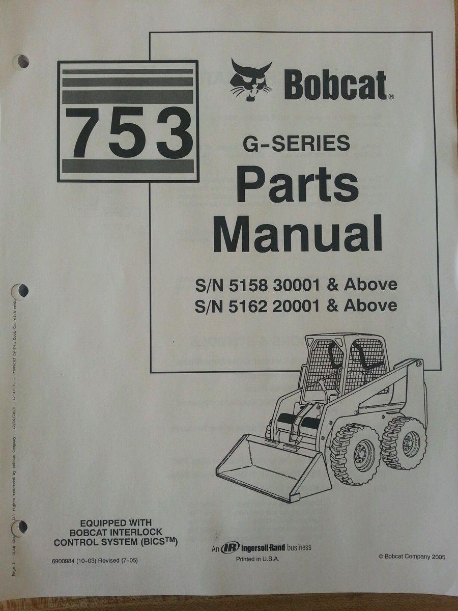 Bobcat S330 Parts Manual