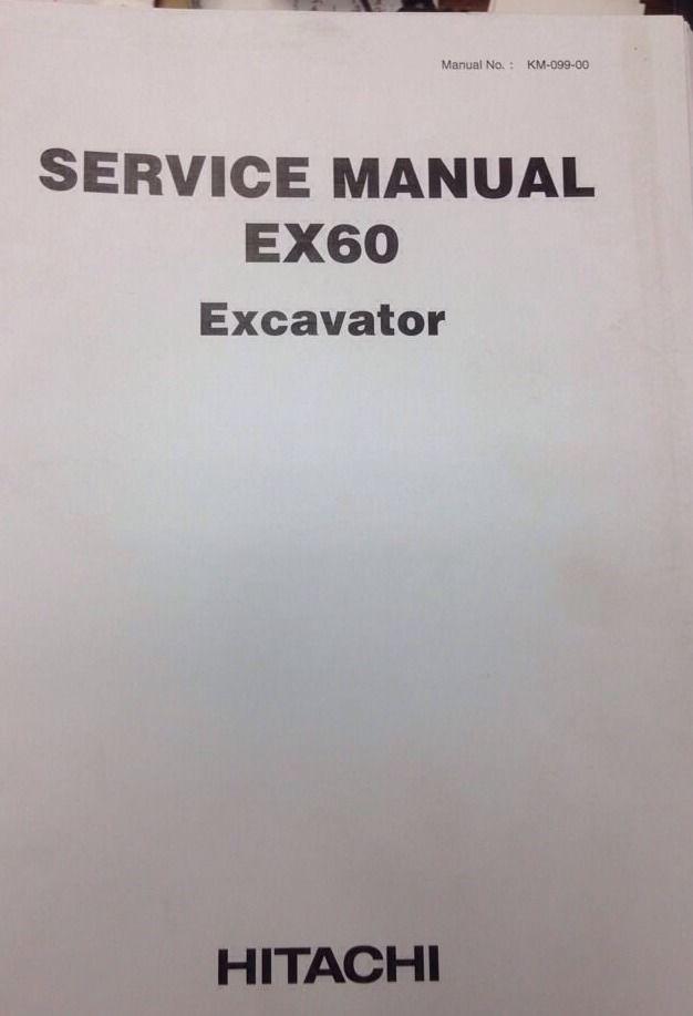 Hitachi Ex60 Plain Excavator Service Manual Shop Repair border=
