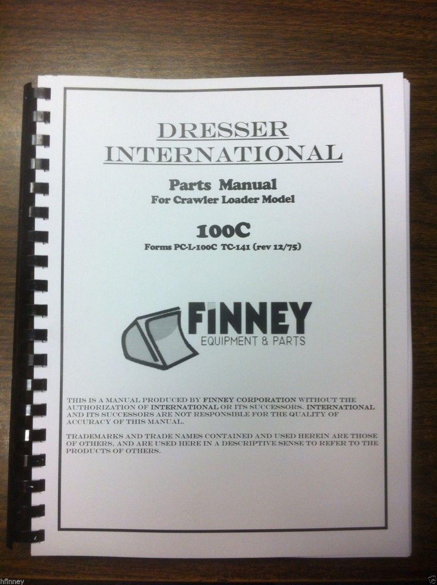 Sd International Dresser C Crawler Loader Parts Manual Book Pc L C Tc Ih