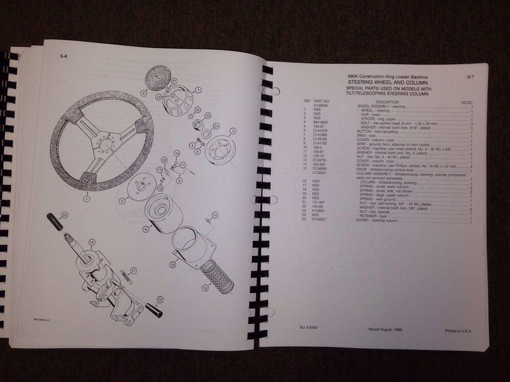 Sd Case K Backhoe Parts Book Manual High Sn Jjg