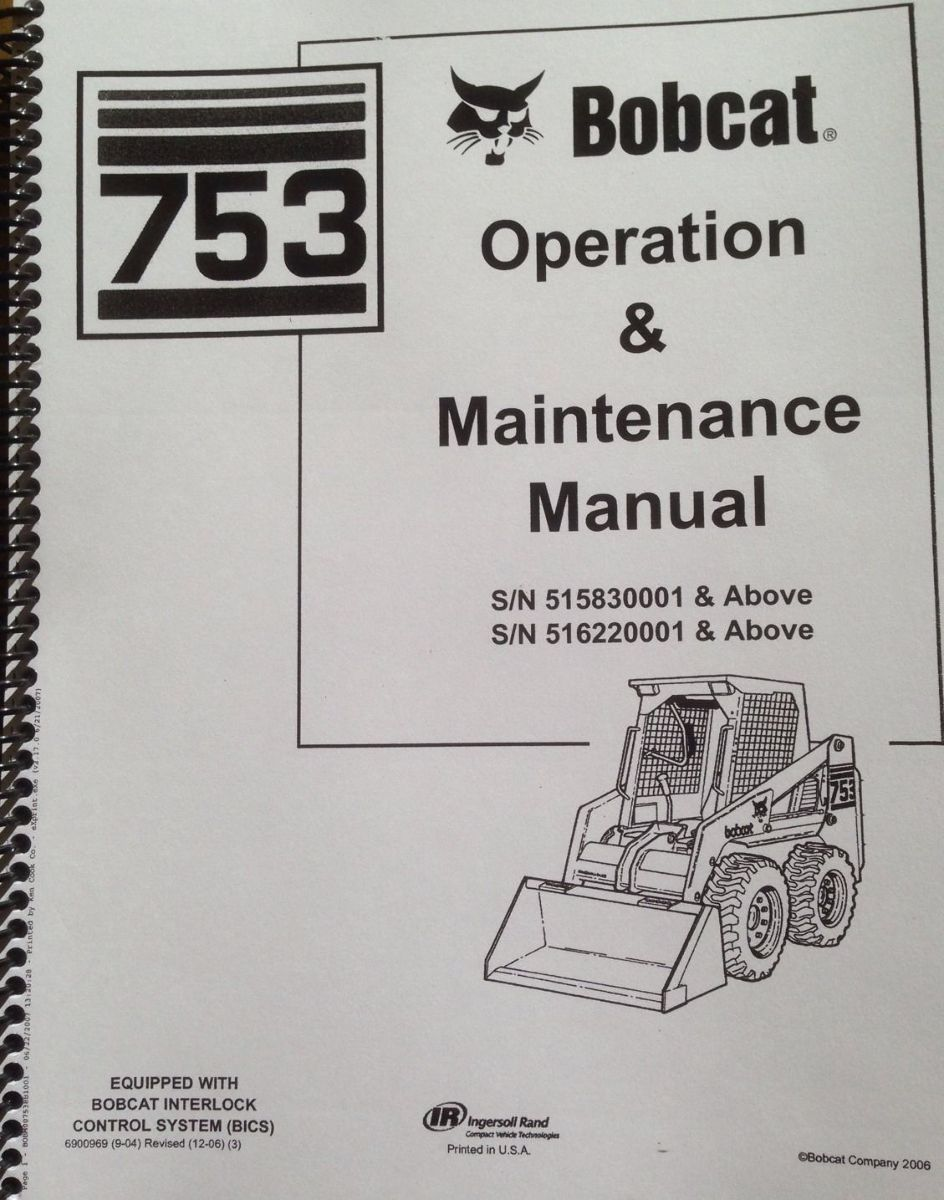 Bobcat Model 753 Service Manual Fuse Box Location Operation And Maintenance Rh Aneffds Com 743 Specifications