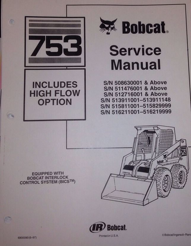 Sd Bobcat H H Service Manual Book Skid Steer Loader