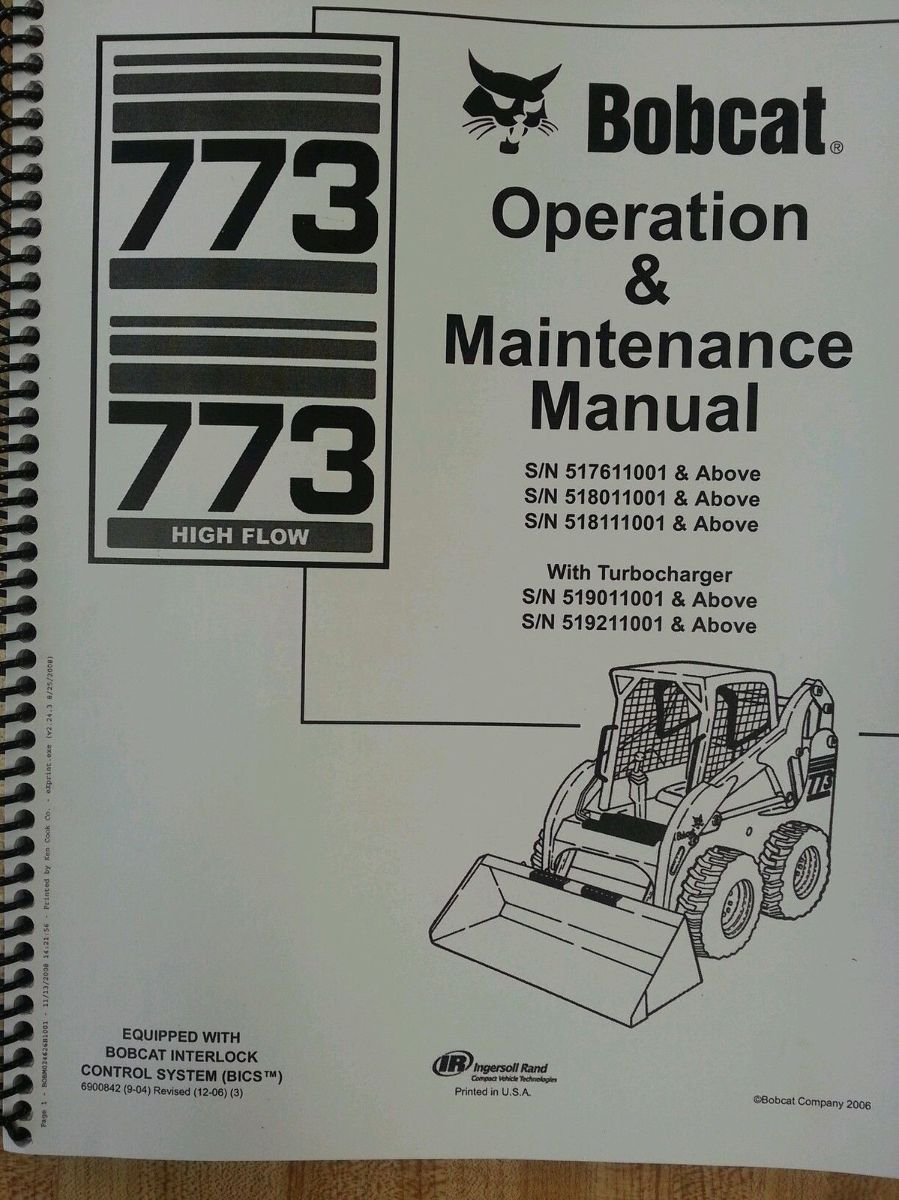 bobcat 773 parts manual free
