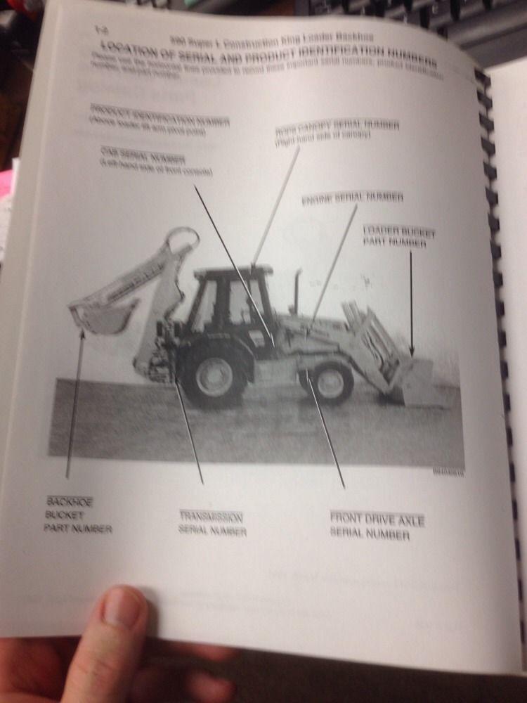 Sd Case Super L Sl Loader Backhoe Parts Manual Book Bur Catalog on Komatsu Backhoe Loader