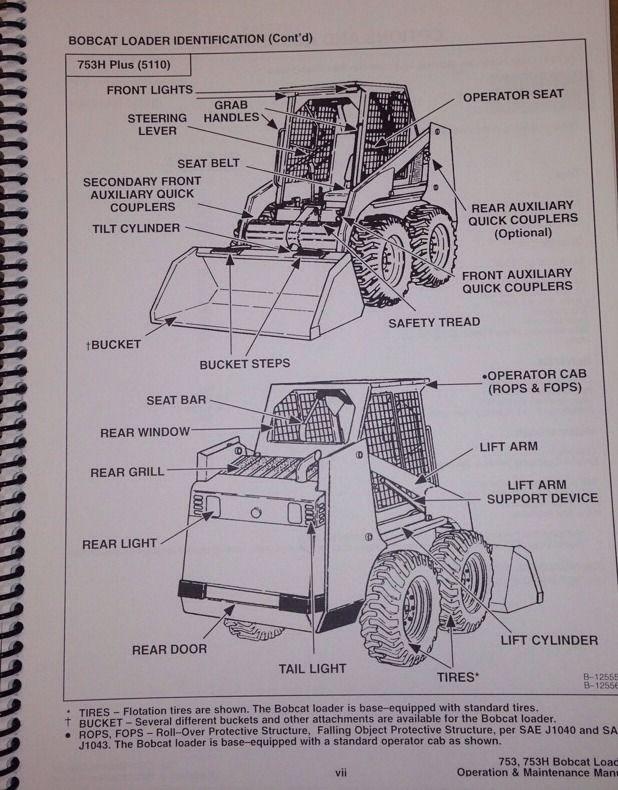 bobcat 753 operators manual pdf