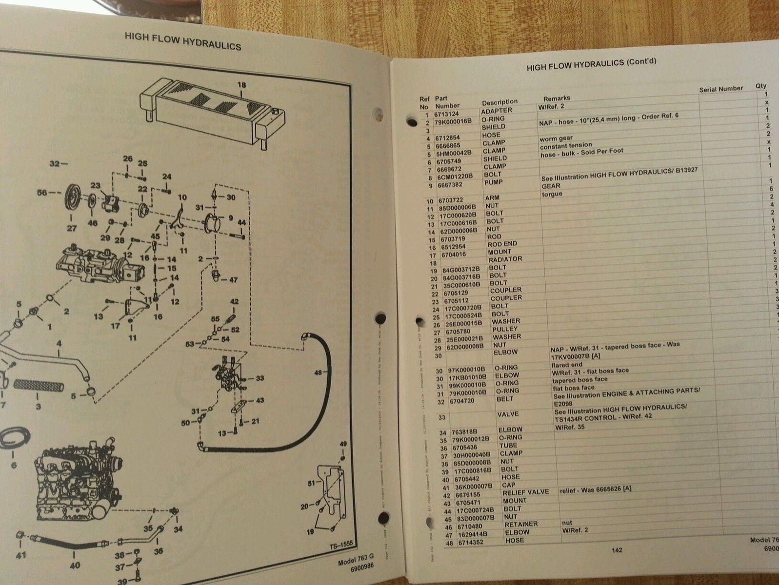 bobcat 763 763g skid steer parts manual book 6900986. Black Bedroom Furniture Sets. Home Design Ideas