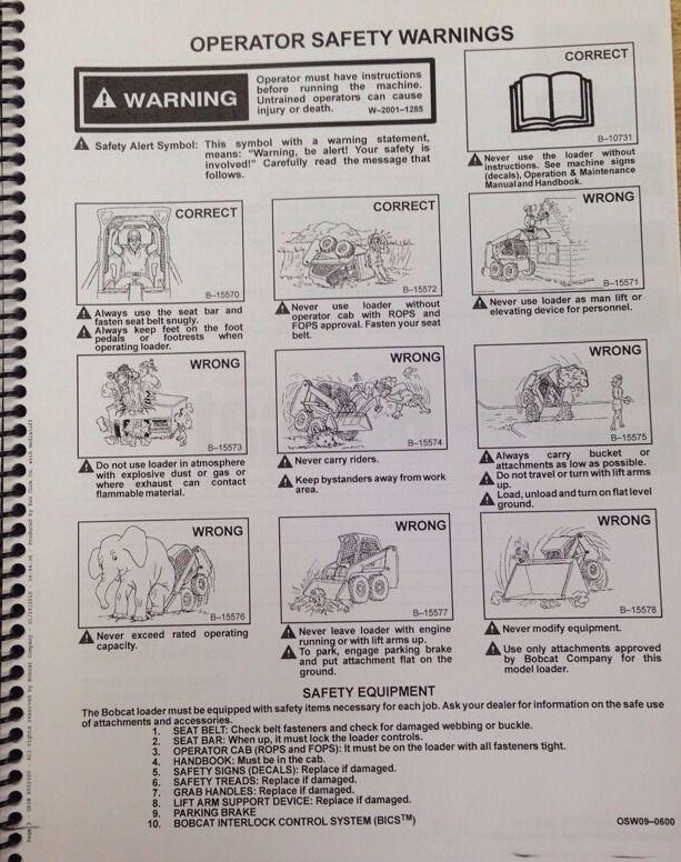 Bobcat 763g 763 Operation Maintenance Manual 6900971 Finney