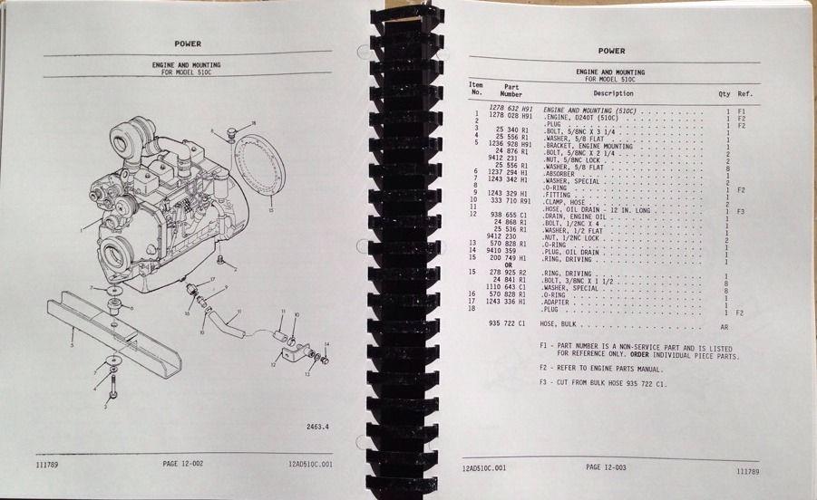 Dresser Ih 510c 515c Wheel Loader Parts Manual Catalog Book Pc510c Komatsu