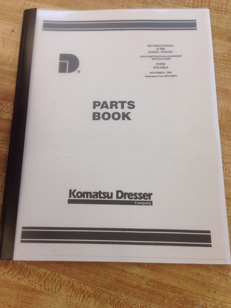international dresser ih 510b d268 wheel loader engine parts manual book  epc268 | finney equipment and parts