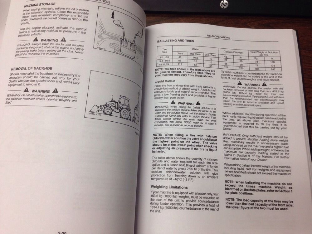 New Holland Lb75 Loader Backhoe Operators Manual Operator