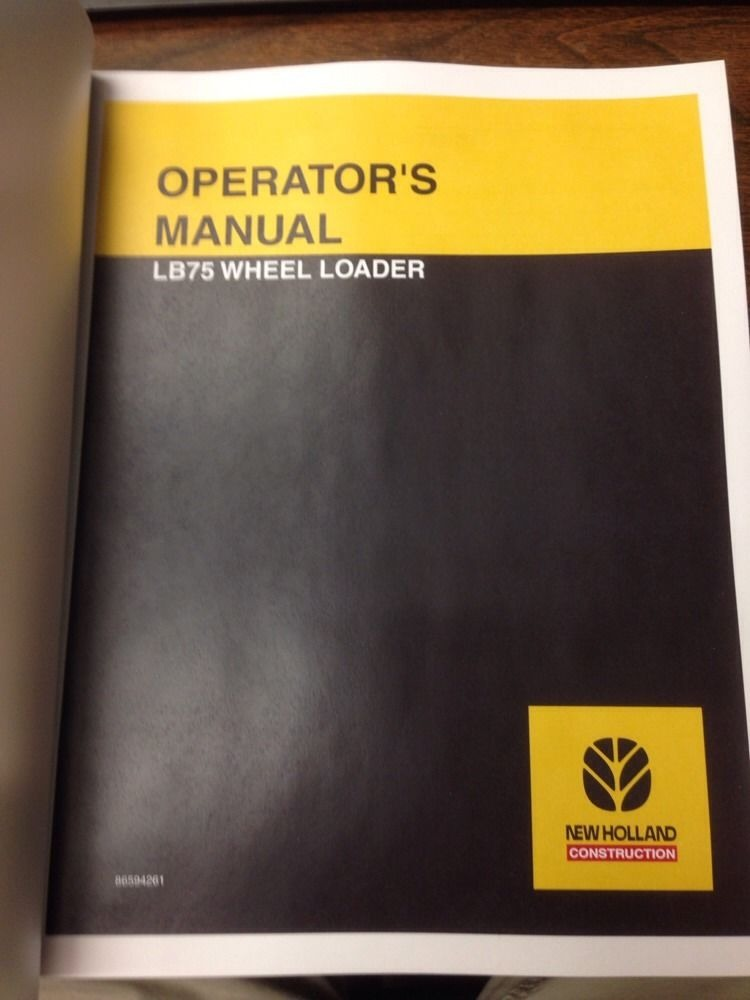 New Holland LB75 loader backhoe operators manual operator operation  maintenance | Finney Equipment and Parts