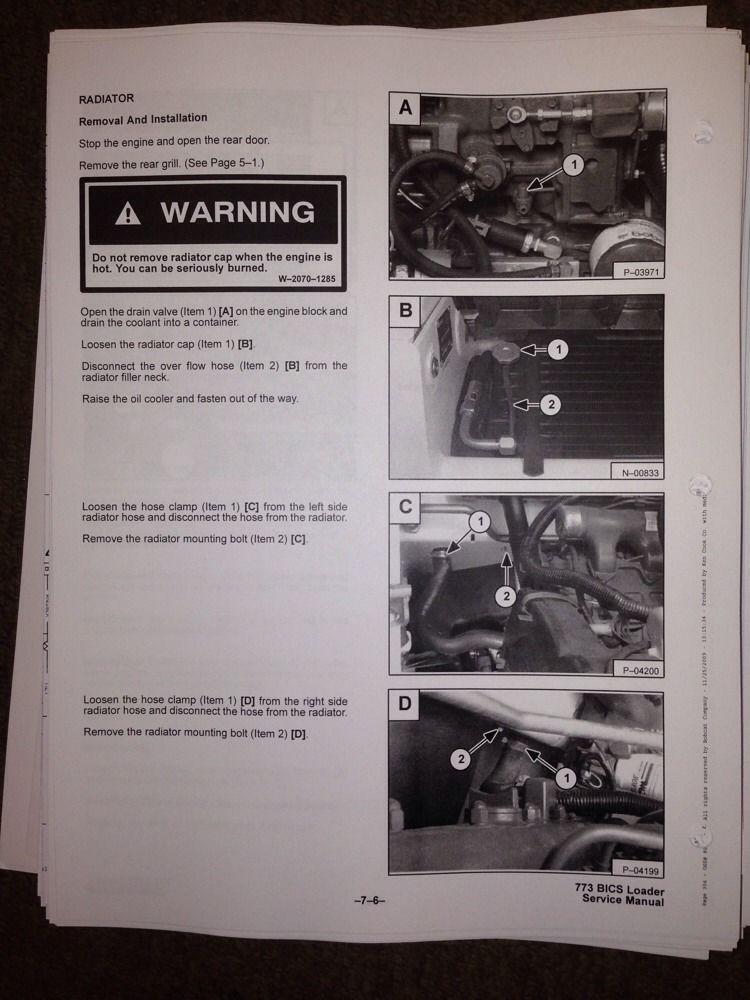 Bobcat 773 Service Repair Manual | Loader (Equipment ...