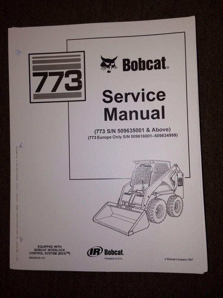 Sd Bobcat Service Manual Book Skid Steer New