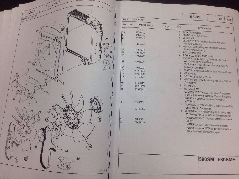 Sd Case Sm Super M M Series Ii Backhoe Parts Manual Catalog French Fc on Case International Parts Diagram