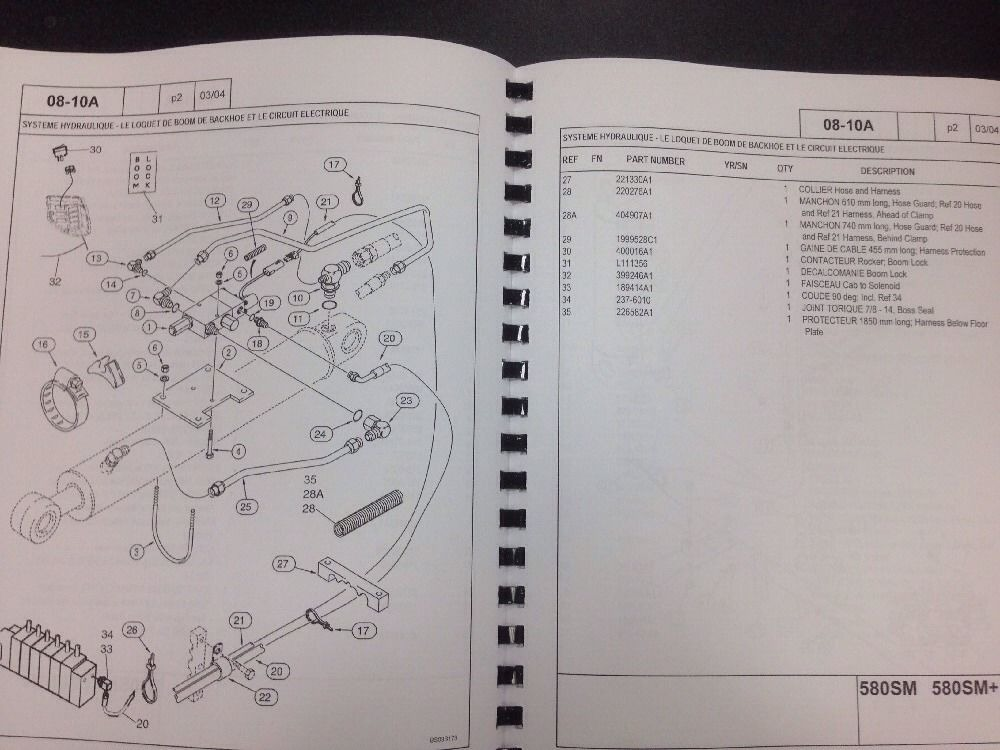 Case 580sm Super M M  Series 2 Ii Backhoe Parts Manual