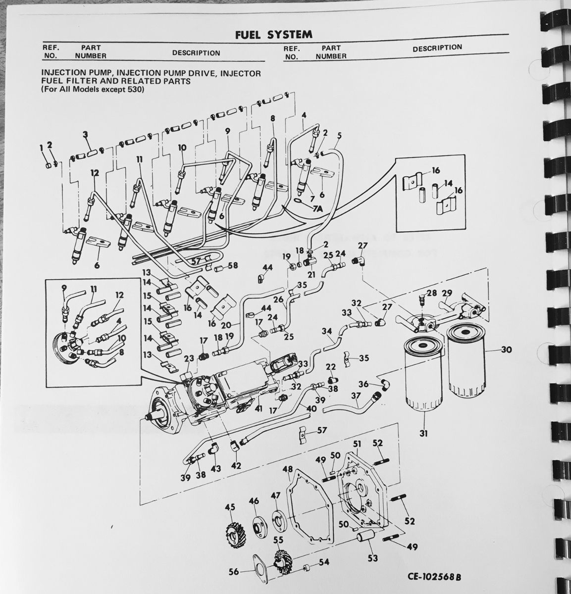International TD15C Crawler Dozer tractor ENGINE PARTS Manual Book ...