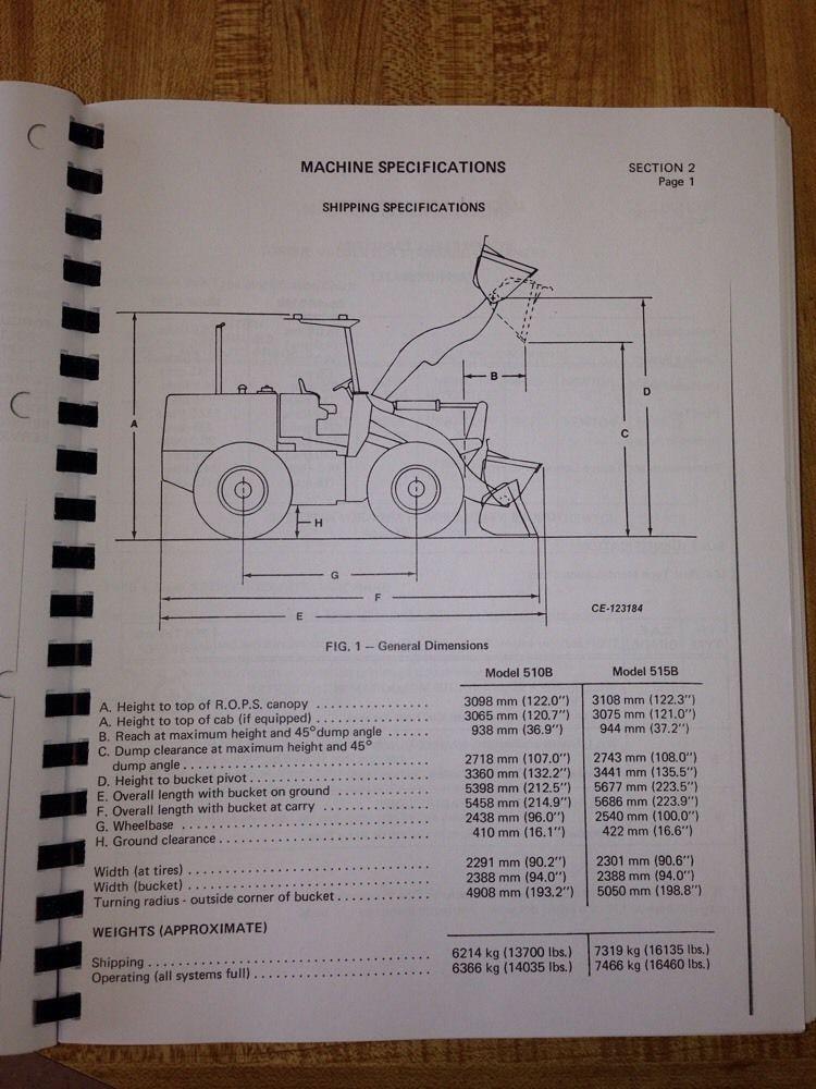 International Dresser Ih 510b 515b Wheel Loader Service