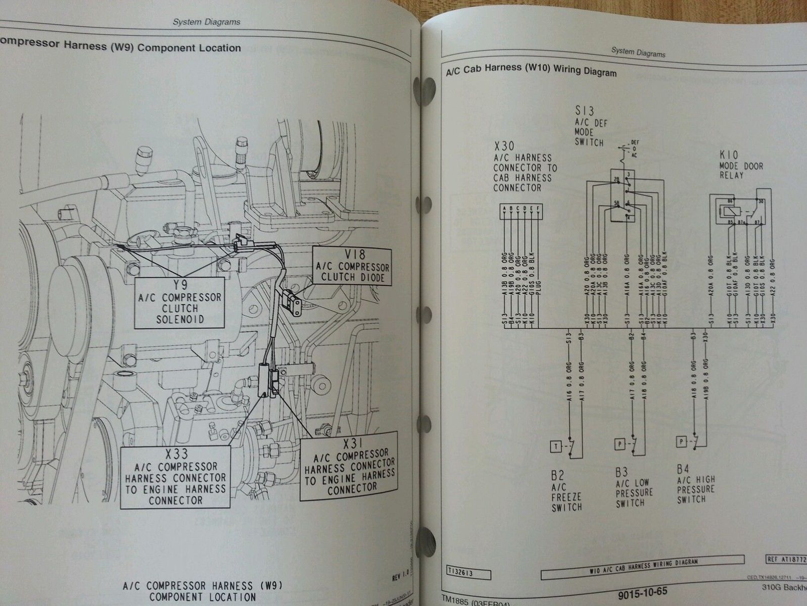 john deere 310g backhoe wiring diagram john wiring diagrams john deere jd 310g backhoe loader service technical operation test