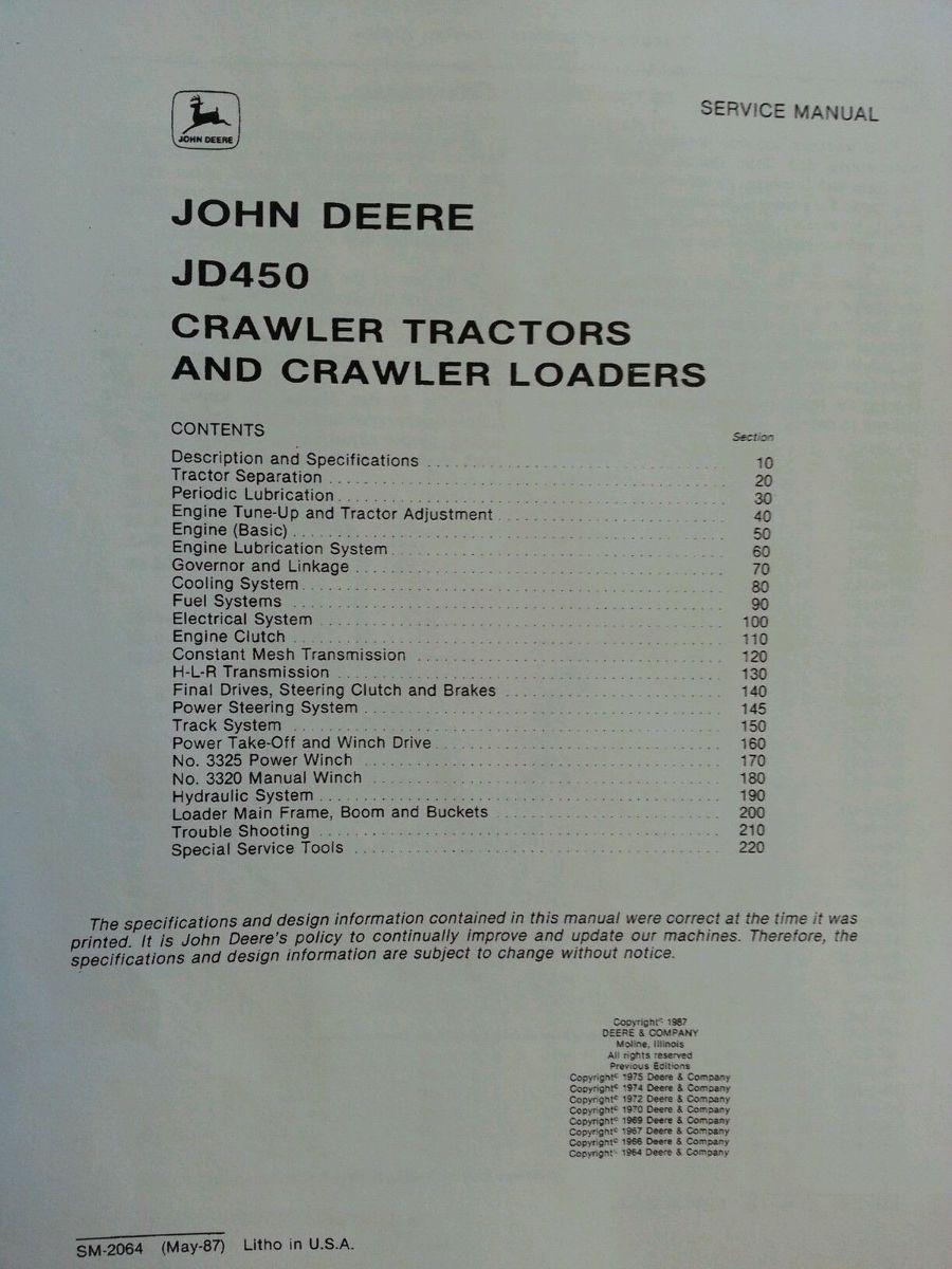 john deere 690b service manual