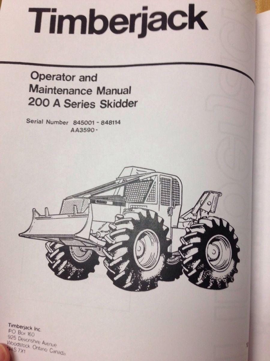 Ford Dealers In Michigan >> Timberjack 200A 225A 230A 240A Deere Skidder Forwarder ...