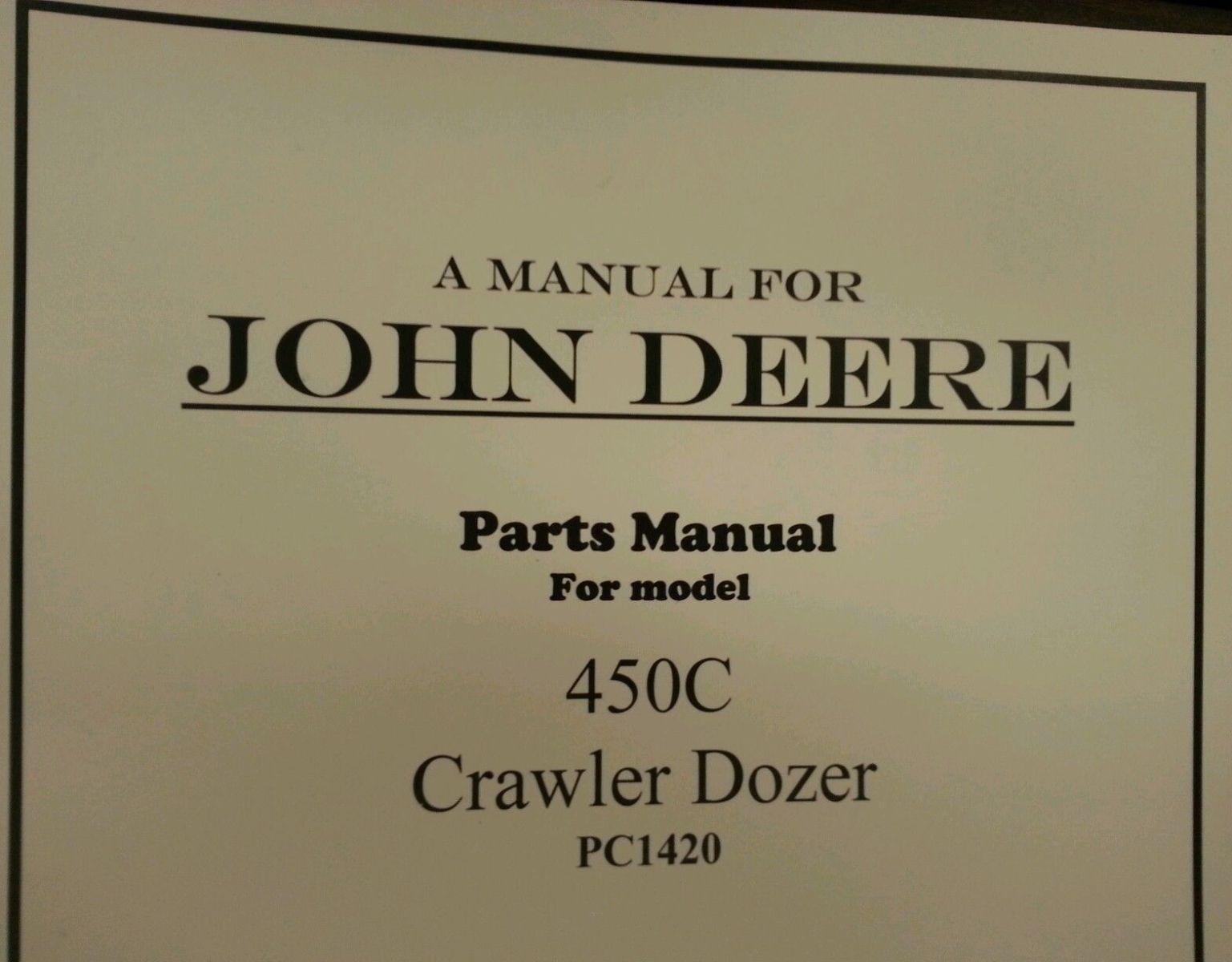 John Deere 450 Crawler Parts Manual Manual Guide