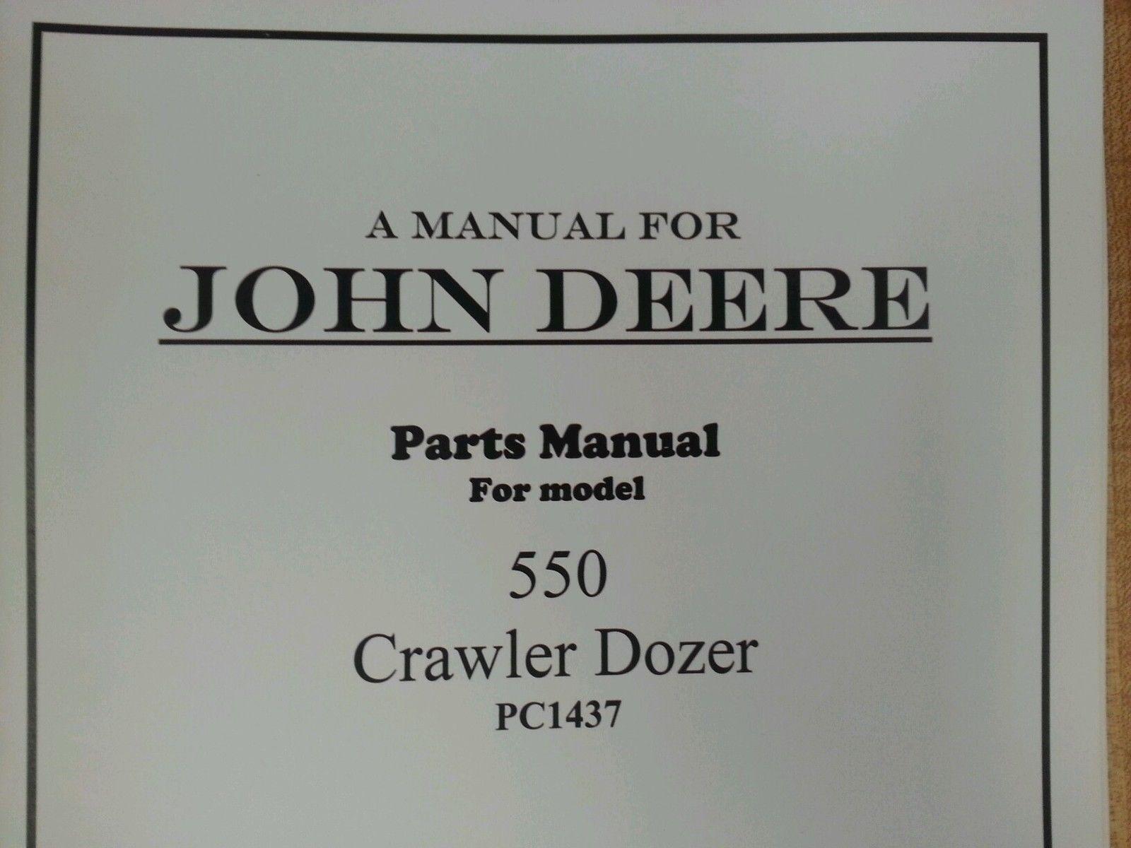 John Deere Jd 550 Crawler Dozer Parts Manual Pc1437