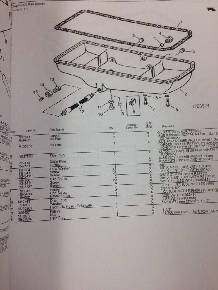 John Deere Jd 544e 624e Wheel Loader Parts Manual Book