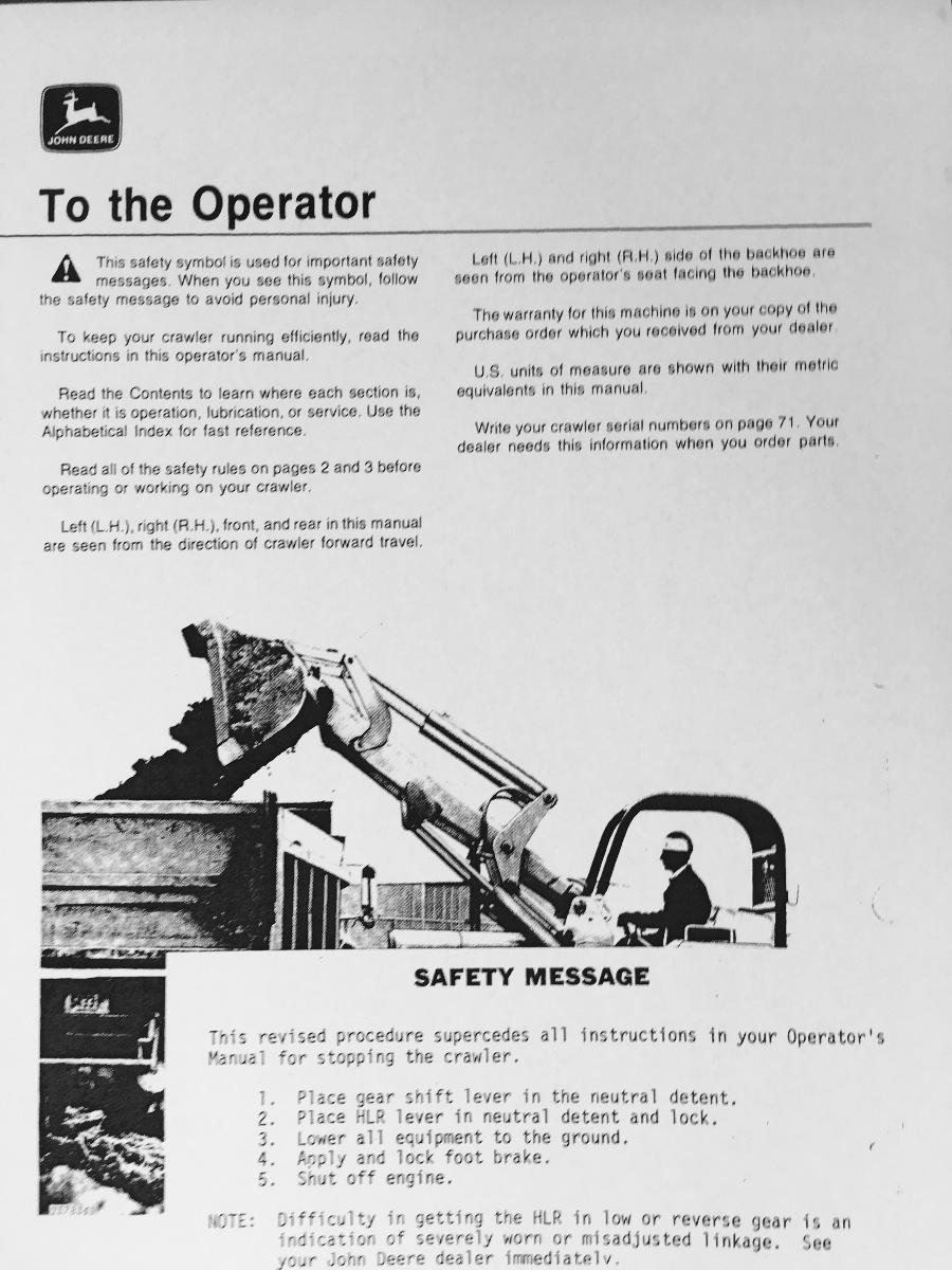 John deere jd 450c crawler loader operator operation manual john deere jd 450c crawler loader operator operation manual omt62743 c8 fandeluxe Images
