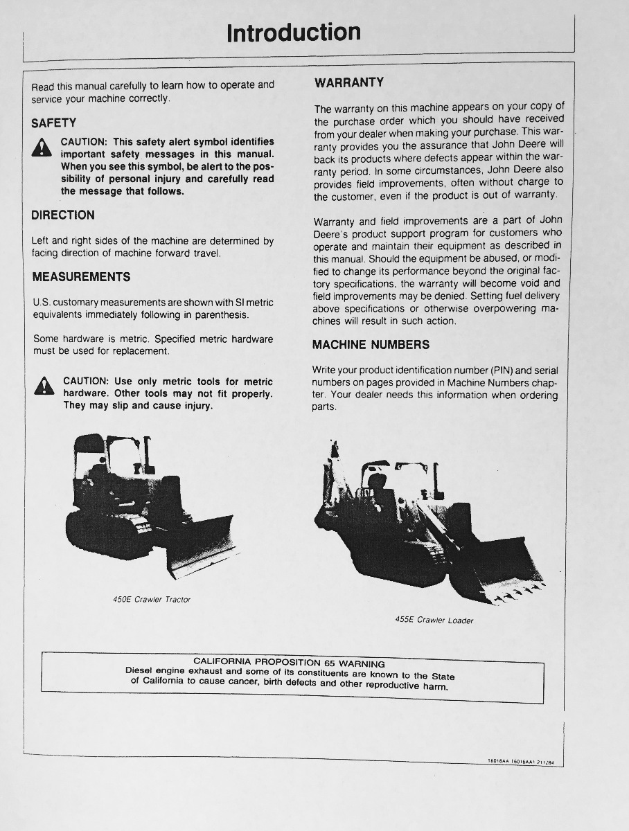 Comics john deere manual 450e fandeluxe Images