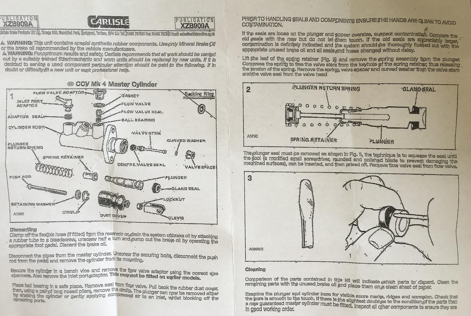 Sd Case K Early Backhoe Brake Master Cylinder Repair Kit N Repairs D