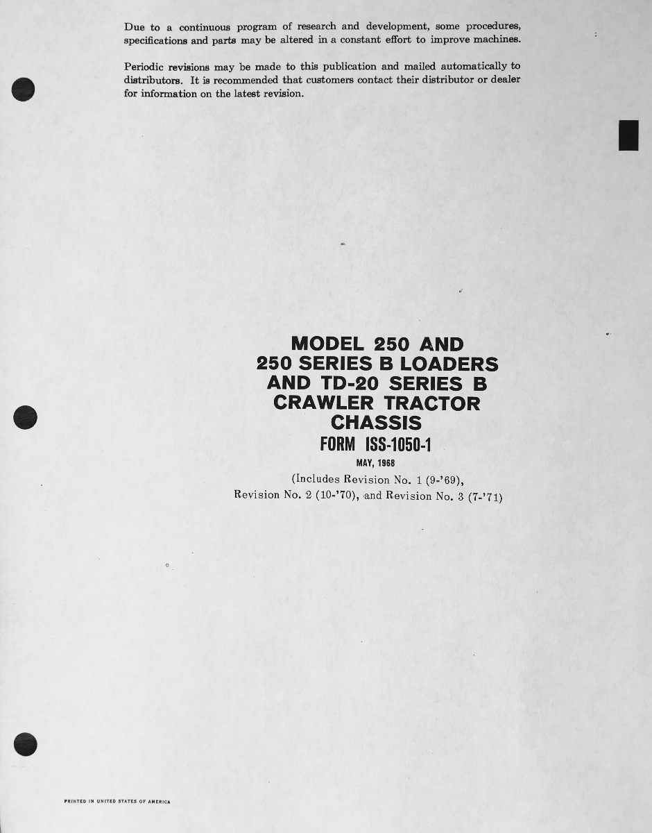 Case 310 Wiring Diagram Electrical Diagrams 1968 International Trusted 430 Tractor
