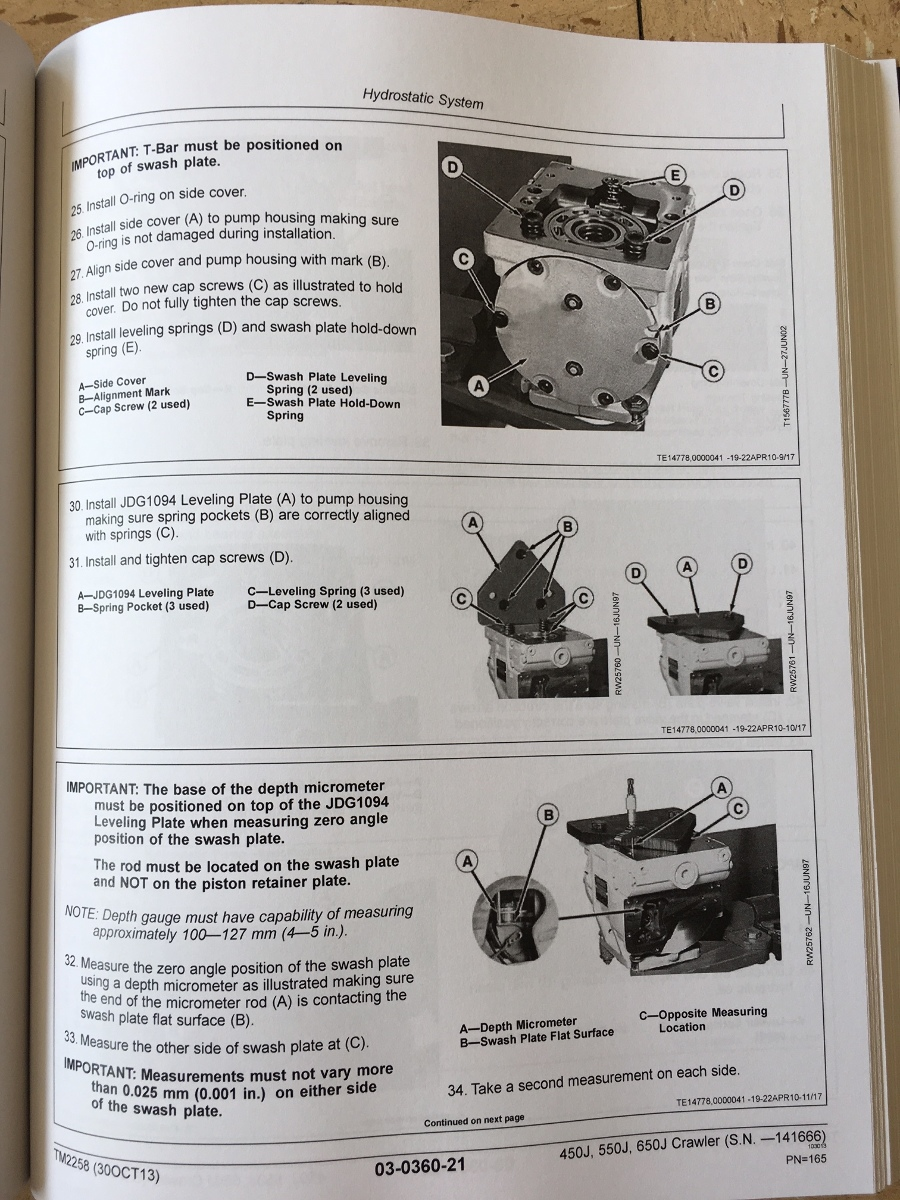 JOHN DEERE 450J 550J 650J CRAWLER DOZER REPAIR MANUAL SERVICE TM2258 EARLY SERIAL # | Finney ...