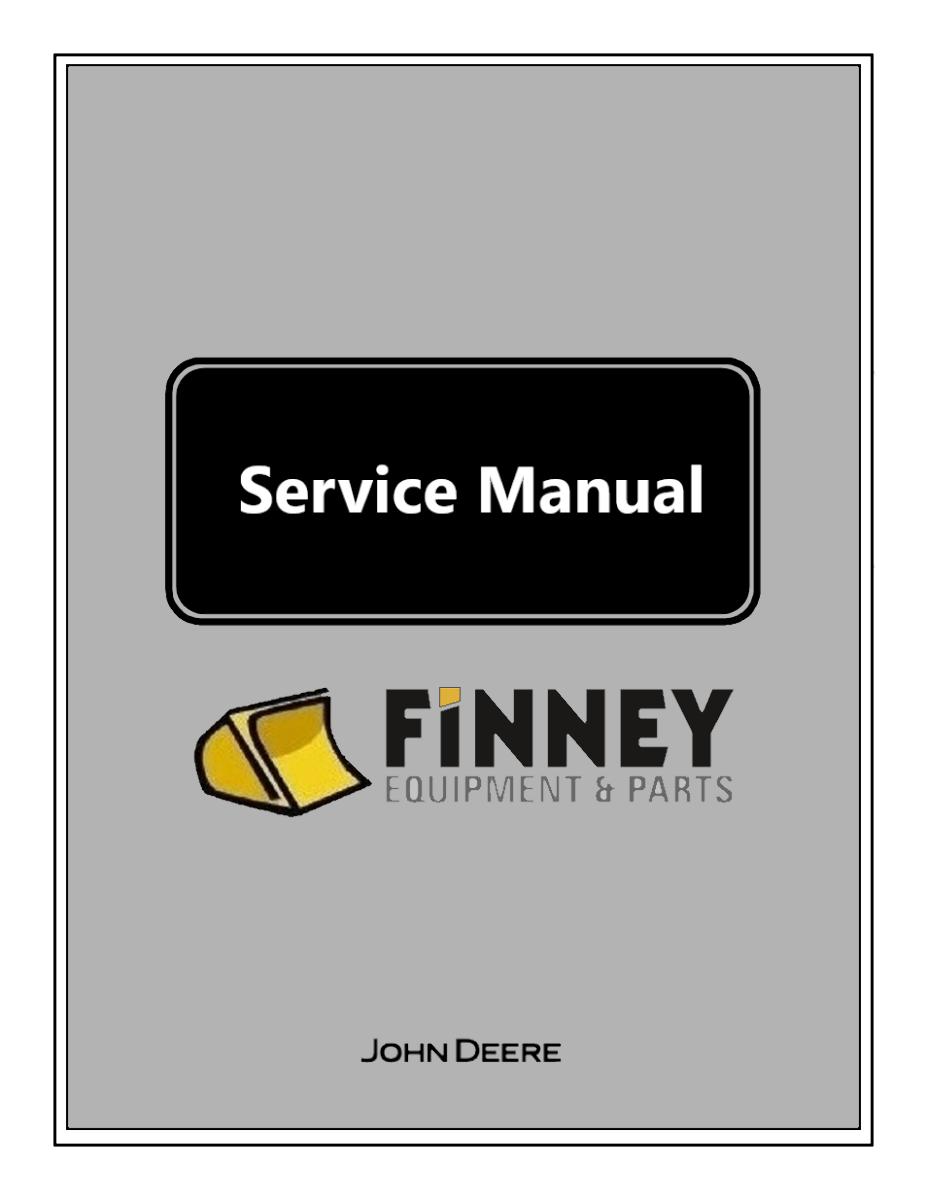 John Deere 450J 550J 650J Dozer Repair Manual High Serial Num JD TM10722  Book | Finney Equipment and Parts