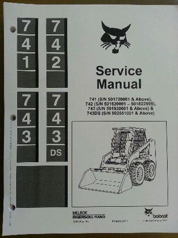 bobcat 743 service manual book skid steer 6566109 finney bobcat 743 service manual book skid steer 6566109