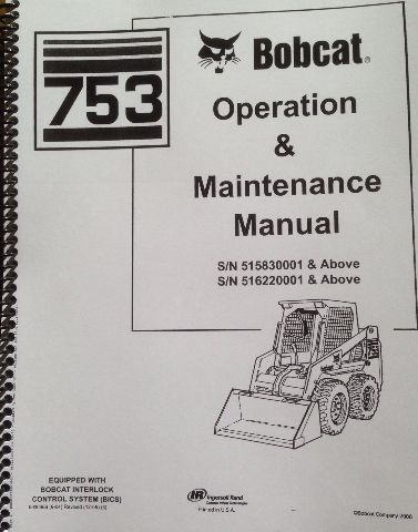 sd423452220 bobcat 753g 753 g operation maintenance manual book 6900969 operator bobcat 753g 753 g operation & maintenance manual book 6900969