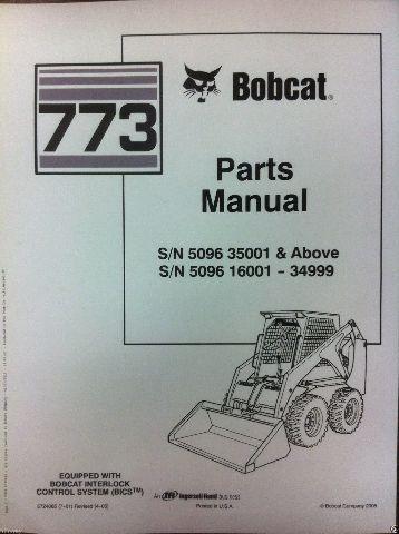 bobcat 773 parts manual book skid steer loader 6724065 new. Black Bedroom Furniture Sets. Home Design Ideas