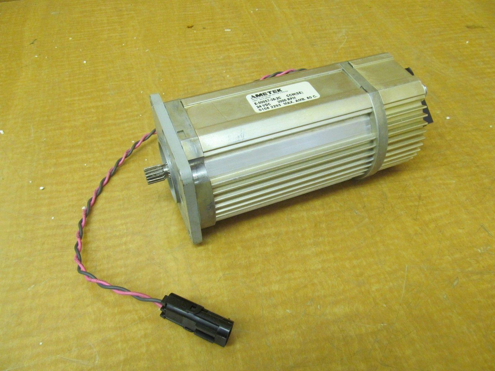 Used Ametek Dc Motor E 50057 38 2c Ccw Se 24vdc 3000 Rpm
