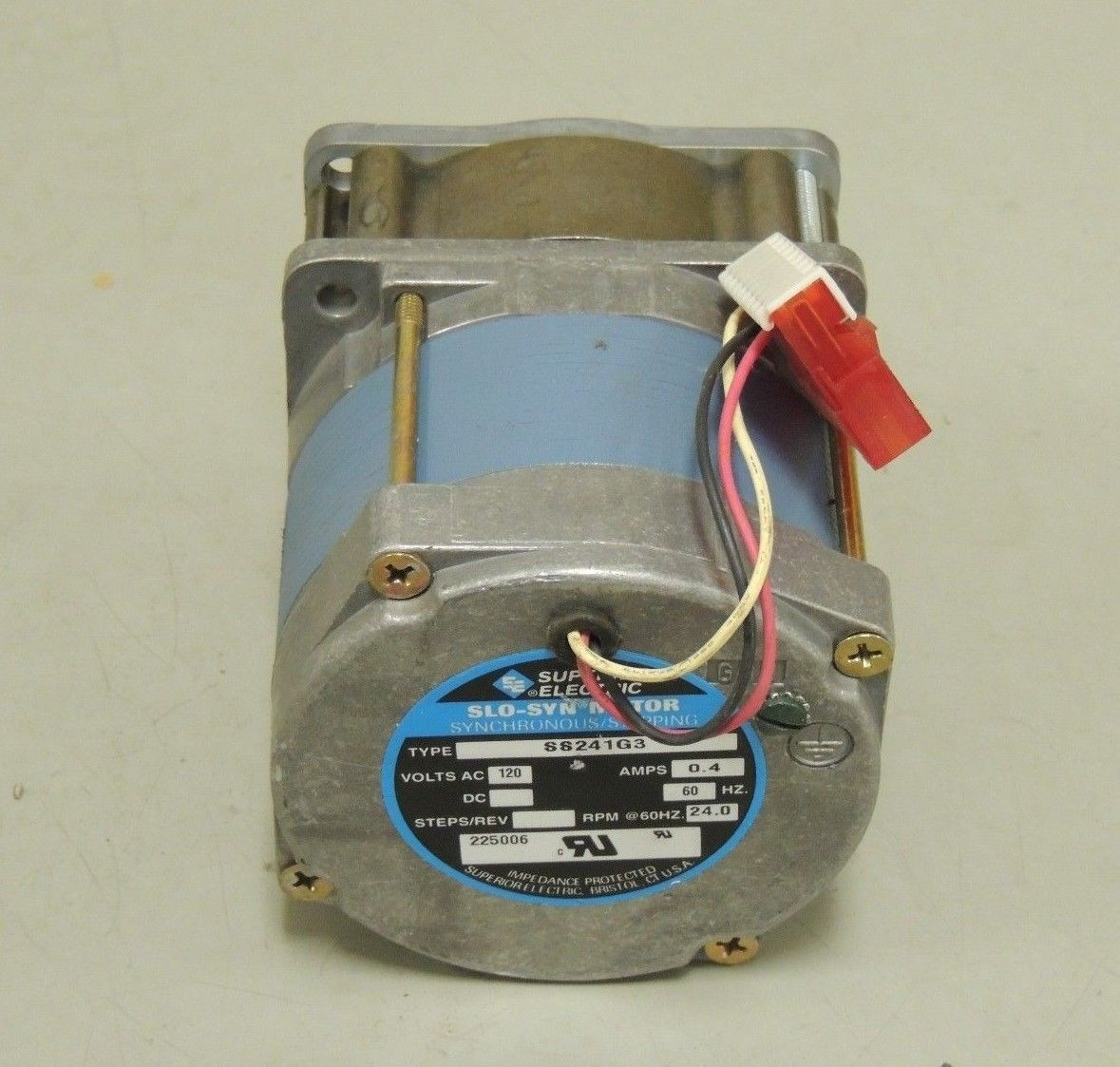 Used Superior Electric Slo Syn Synchronous Stepping Motor Ss241g3 120 Vac 4 A Ebay