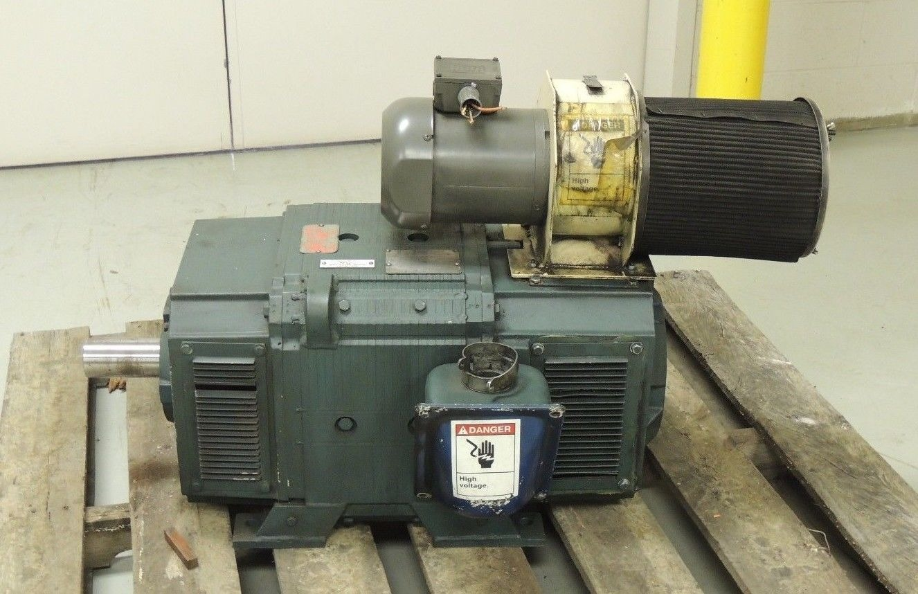 Used reliance dc motor b328atz 75 hp 1750 rpm 500 volts for 500 hp dc motor