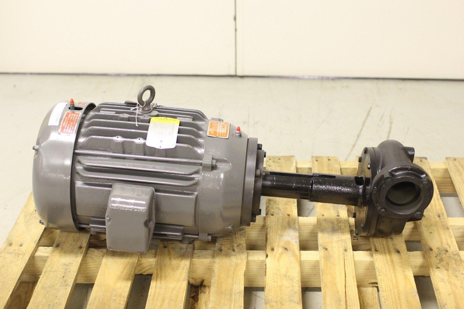 New gusher vertical pump 11032 ns a w baldor motor for Motor baldor 20 hp