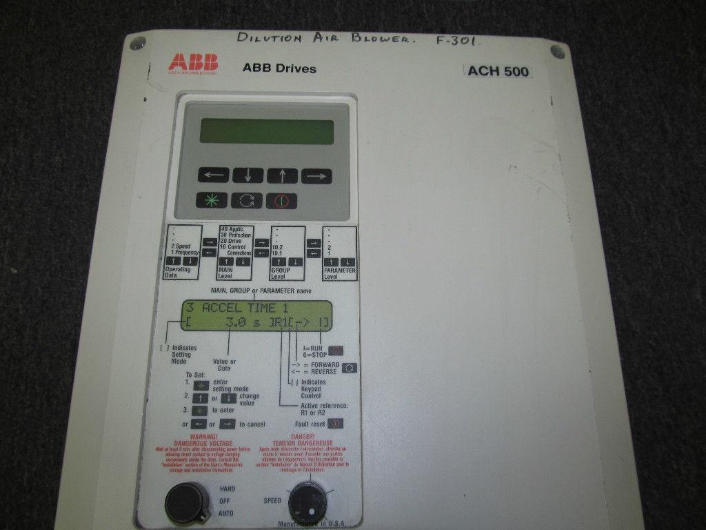 used abb vfd control drive ach500 acs501 020 4 00p2 27a. Black Bedroom Furniture Sets. Home Design Ideas