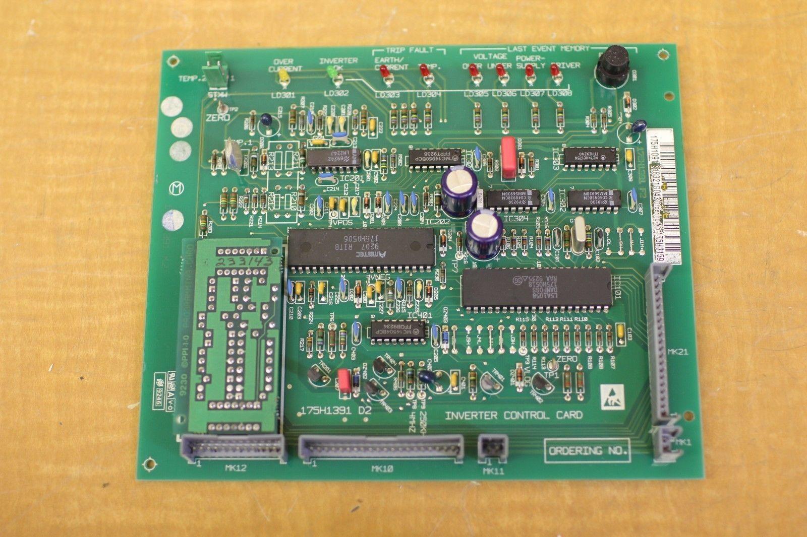 Used Danfoss Inverter Control Card Pcb 175h1391 175h3159